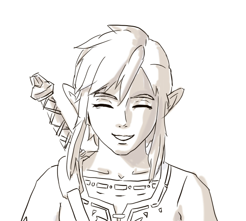 ブレワイリンクの笑顔が見たいのでトレスしたgifアニメ