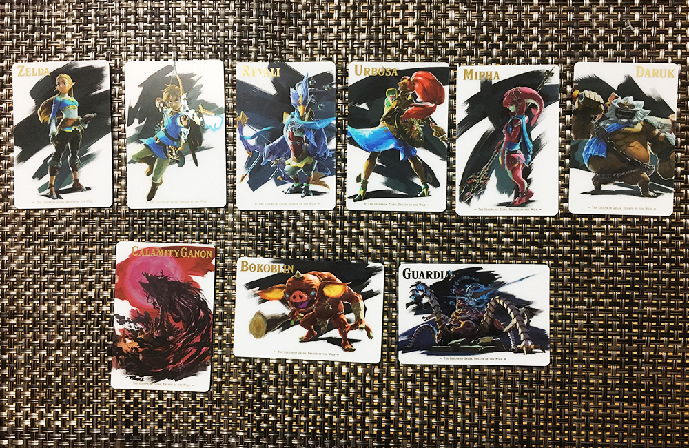 ゼルダの伝説ブレスオブザワイルドのカードの絵柄1