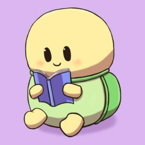 本を読むカメ