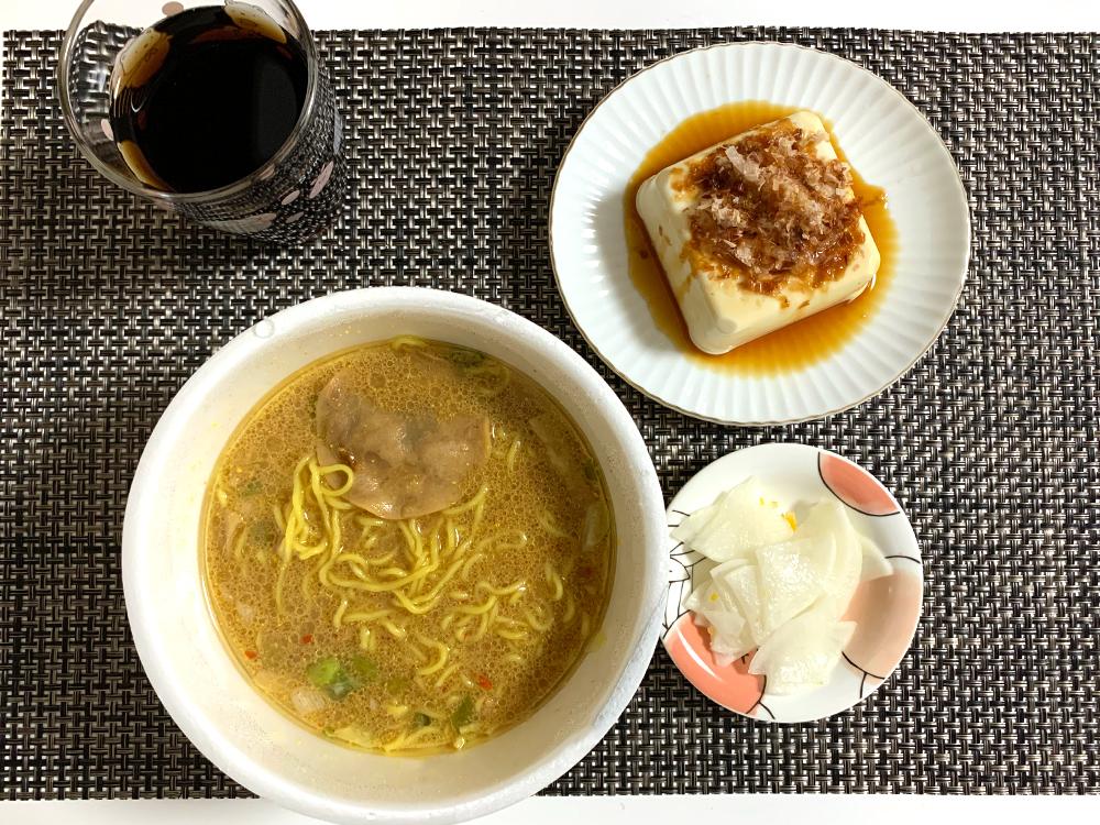 青森ご当地カップ麺_味噌カレーミルクラーメン_いただきます
