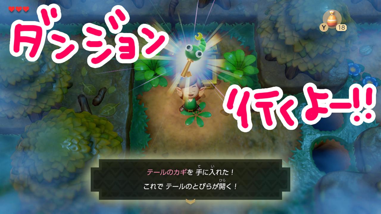 ゼルダの伝説夢をみる島ネタバレありプレイ日記1-24_テールの鍵みっけ!