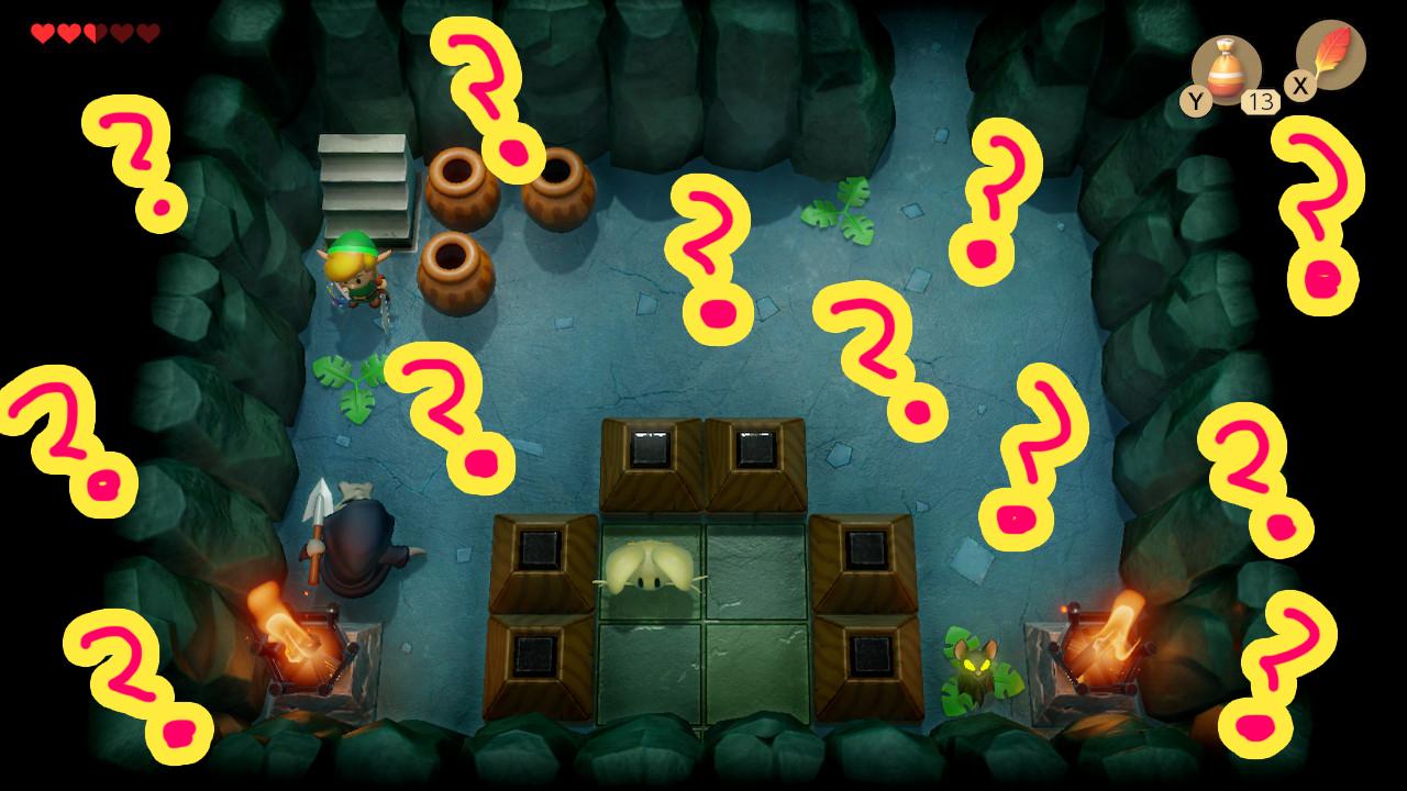 ゼルダの伝説夢をみる島ネタバレありプレイ日記2_正しい順番で倒す部屋