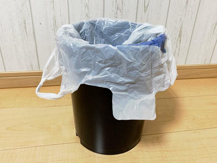 袋が見えないゴミ箱おススメ!