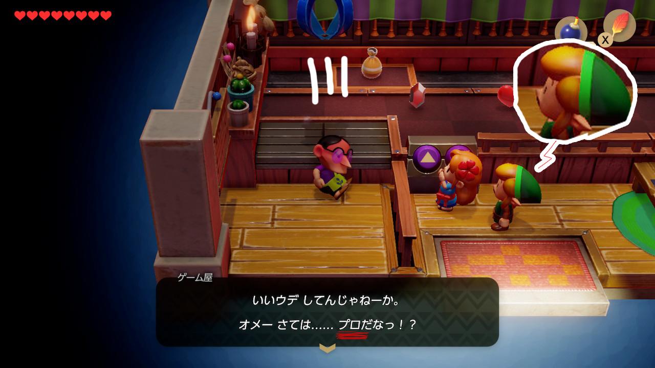 ゼルダの伝説夢をみる島ネタバレありプレイ日記4_マリンちゃんとクレーンゲーム3