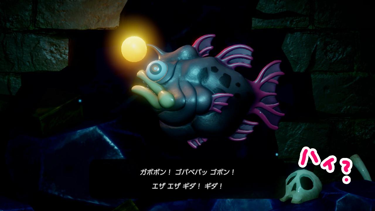 ゼルダの伝説夢をみる島ネタバレありプレイ日記4_ごぼごぼアングラー