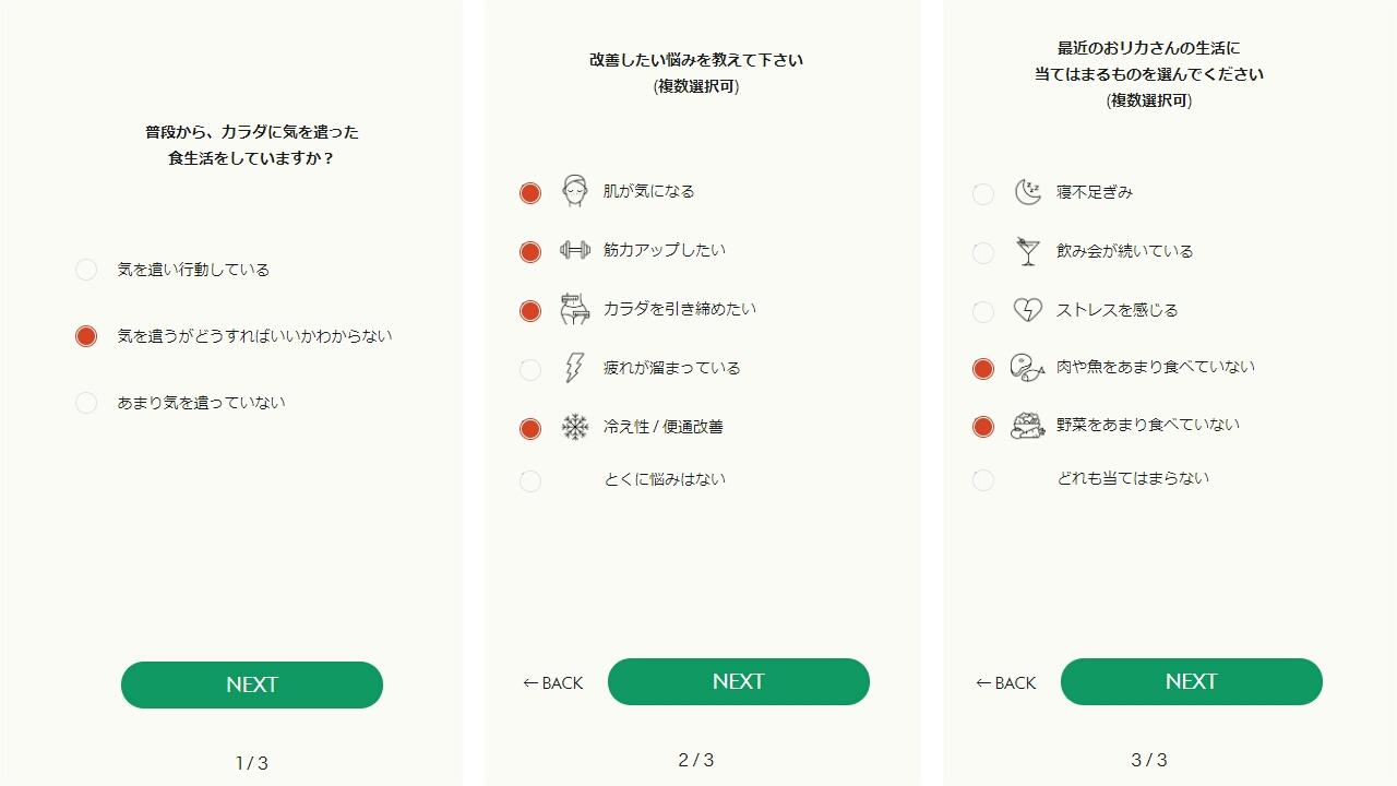 GREEN SPOON診断手順3