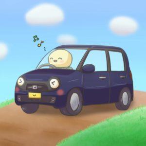 ドライブ大好きなカメ