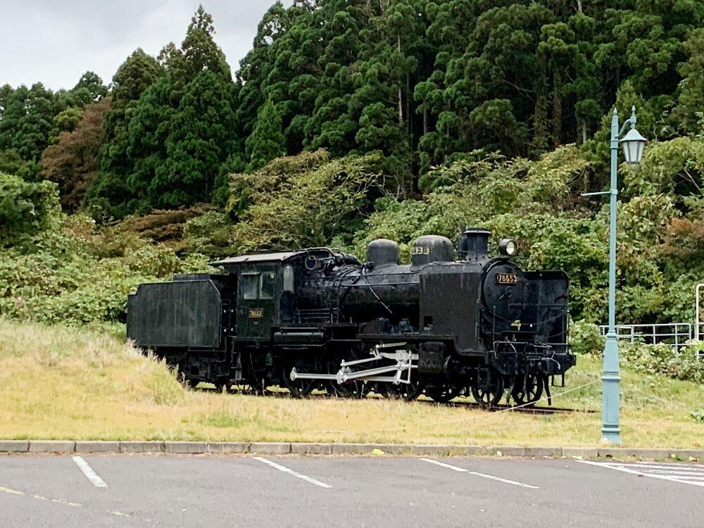 ウェスパ椿山の蒸気機関車